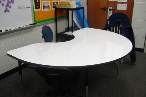 resurface whiteboard table